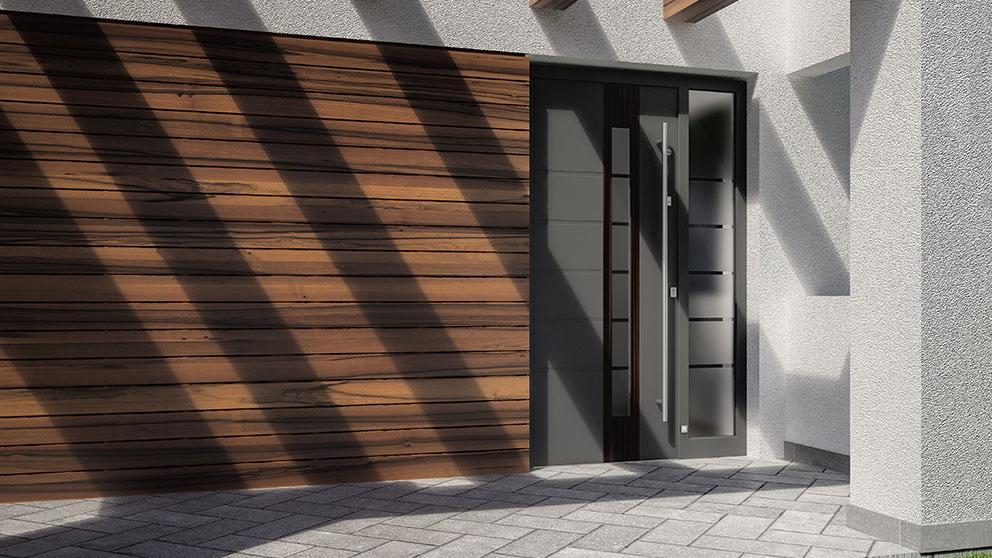 Drzwi zewnetrzne z aluminium Aluhaus