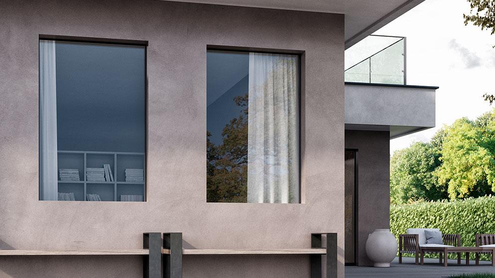 Wąska rama w oknach aluminiowych Aluhaus