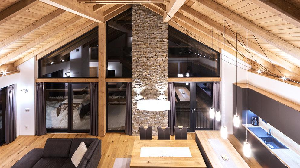 okna aluminiowe w domu drewnianym - Aluhaus