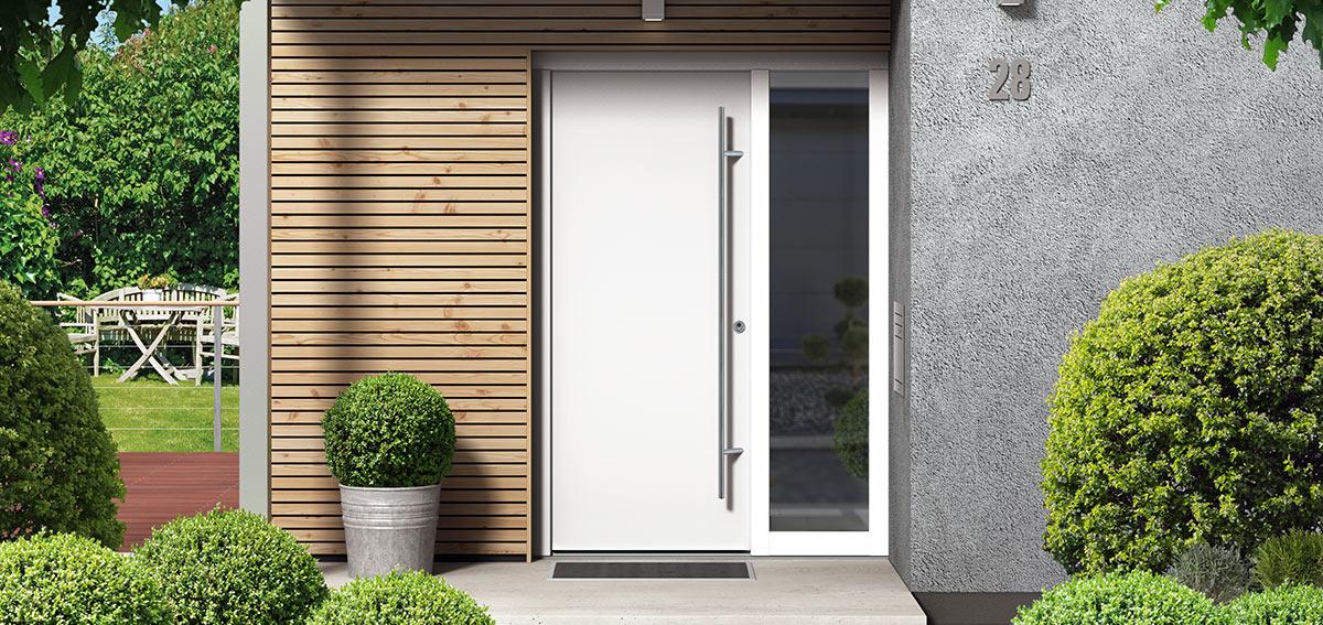 Drzwi aluminiowe do domu