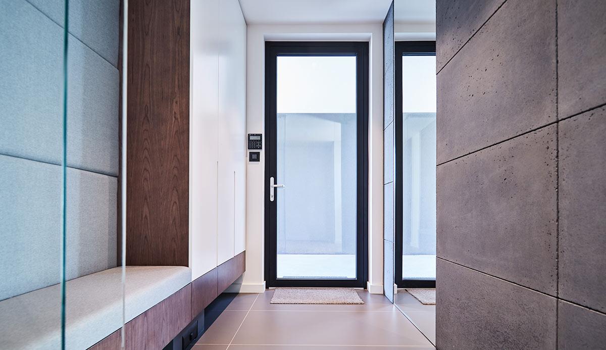 Przeszklone drzwi aluminiowe Aluhaus