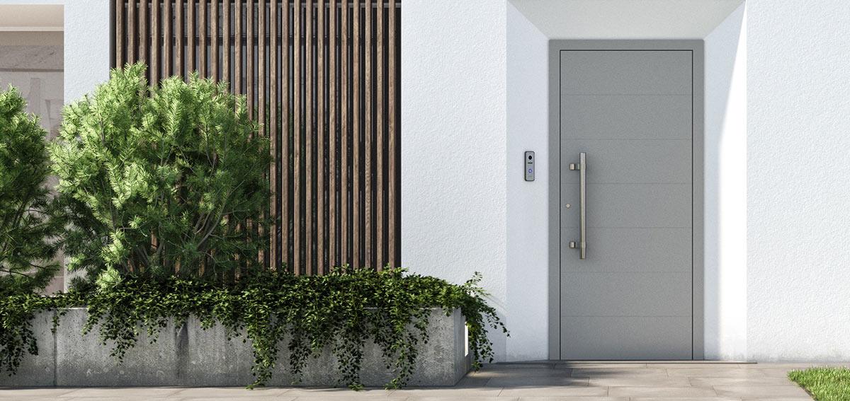 Wejściowe drzwi aluminiowe Aluhaus