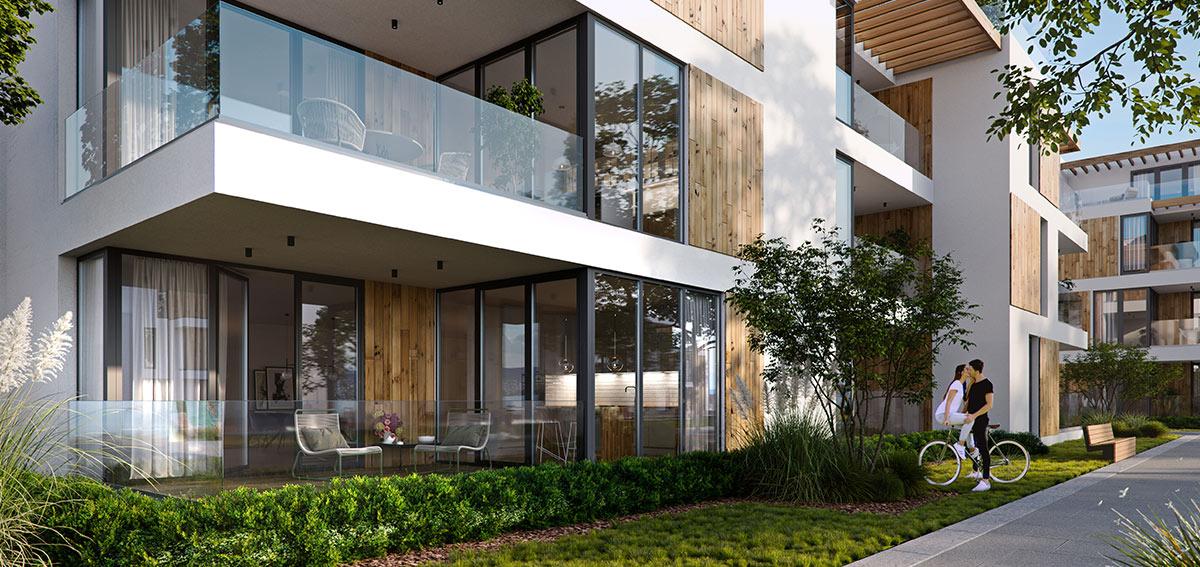 Okna balkonowe aluminiowe - Aluhaus Miru Standard