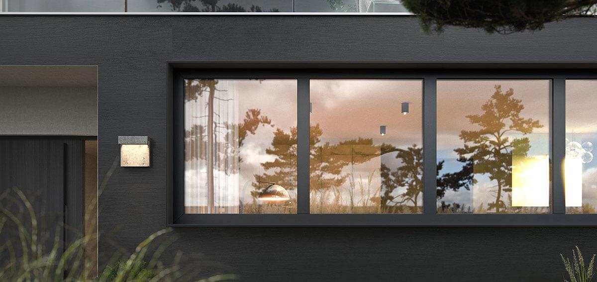 Okna trzyszybowe Miru Hidden - Aluhaus
