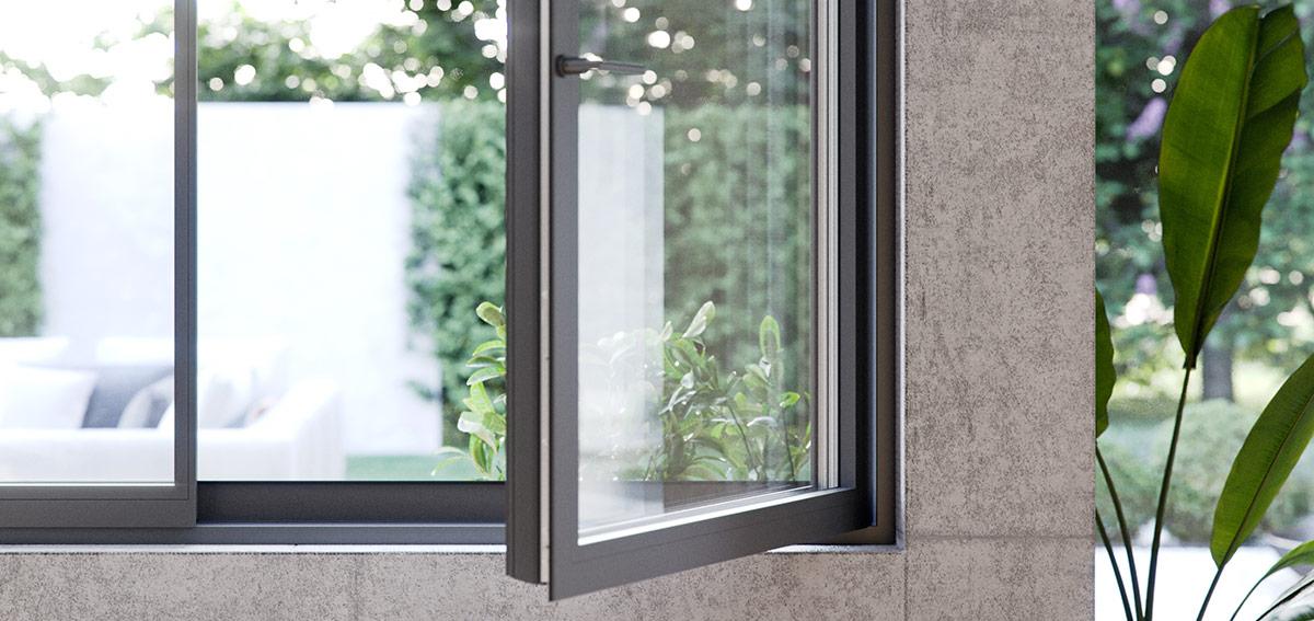 Okno Muru Hidden - Aluhaus