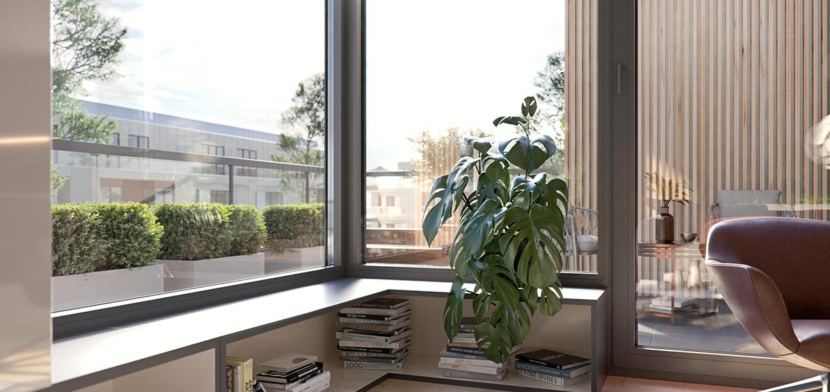 okna narożne - Aluhaus Miru Standard