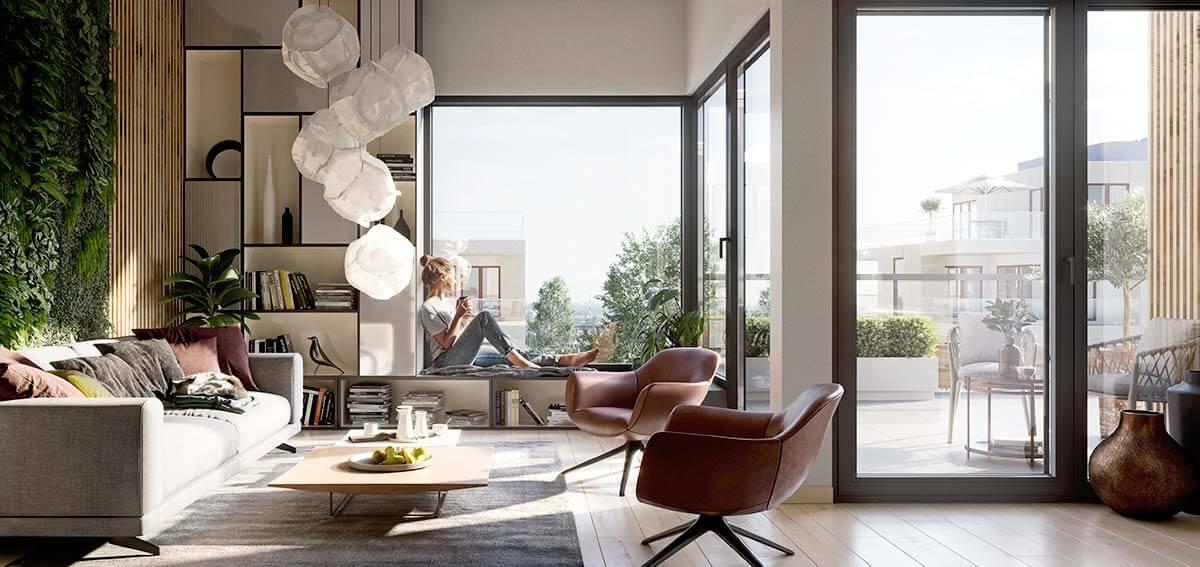 okna do nowoczesnych bloków -Aluhaus